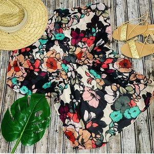 Espress Beach Floral Tunic Dress with Cami under